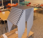 Skólaborð staflanleg 64x64 cm m/plötu image